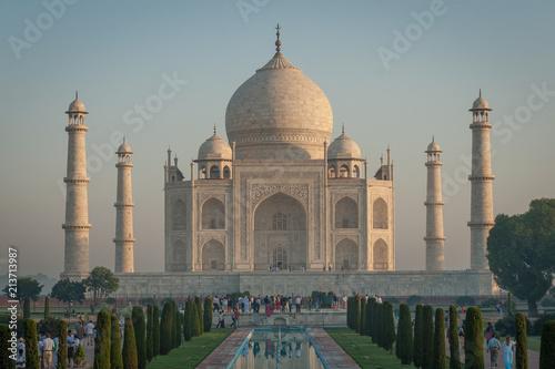 Fotografie, Obraz  Morgengrauen am Taj Mahal