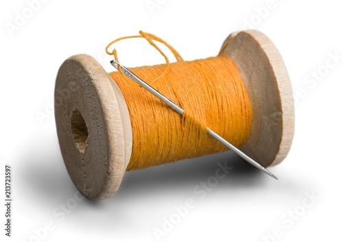 Fotografiet  Spool of Thread and Needle