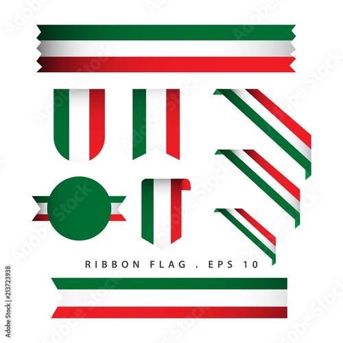 Fototapeta Italy Ribbon Flag Vector Template Design Illustration obraz