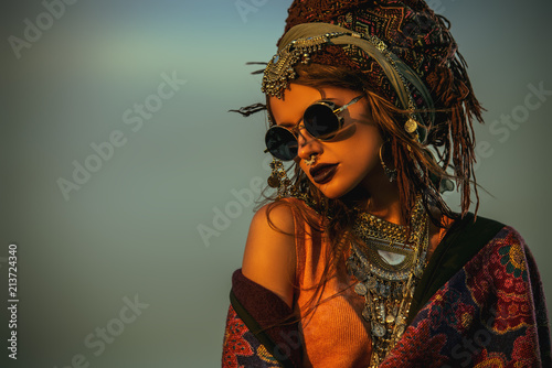 In de dag Gypsy magnificent boho woman