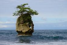 Tiny Rocky Island With A Small...