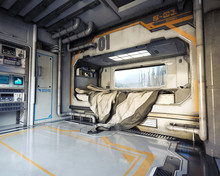 Science Fiction Bedroom Interi...