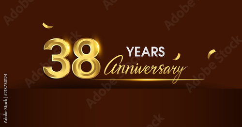 Papel de parede  38 years anniversary celebration logotype
