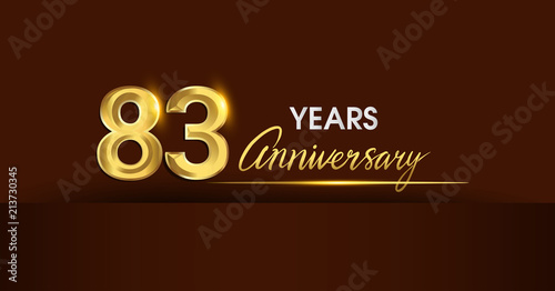 Tela  83 years anniversary celebration logotype