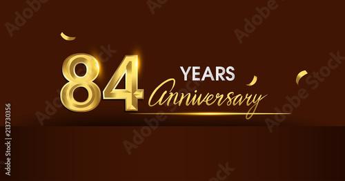 Fotografia  84 years anniversary celebration logotype