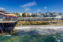 Beautiful Pacific Ocean Coastline At Redondo Beach, California