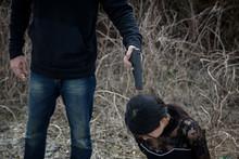 Terrorist Point Gun To Female Hostage