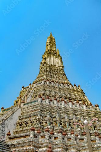 Foto op Plexiglas Bedehuis Wat Arun Ratchawararam Ratchawaramahawihan temple. Bangkok. Thailand