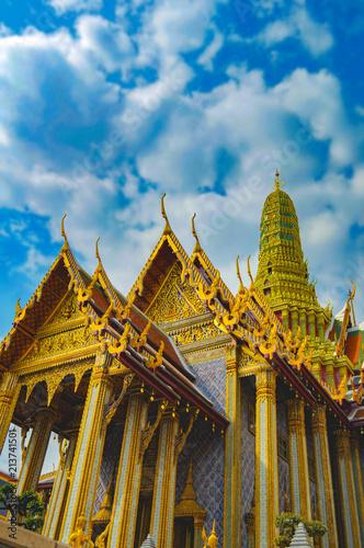 In de dag Bangkok Temple of the Emerald Buddha. Bangkok. Thailand