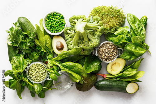 Photo raw healthy food clean eating vegetables grain products source protein vegetaria