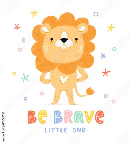 Fototapeta Be brave little one
