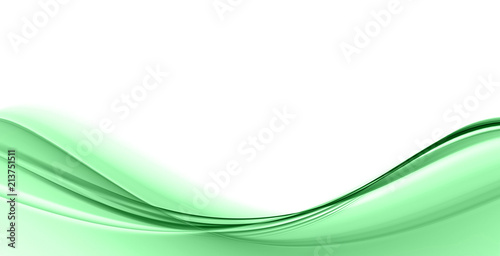 Keuken foto achterwand Abstract wave Abstract green waves on a white background. Fractal