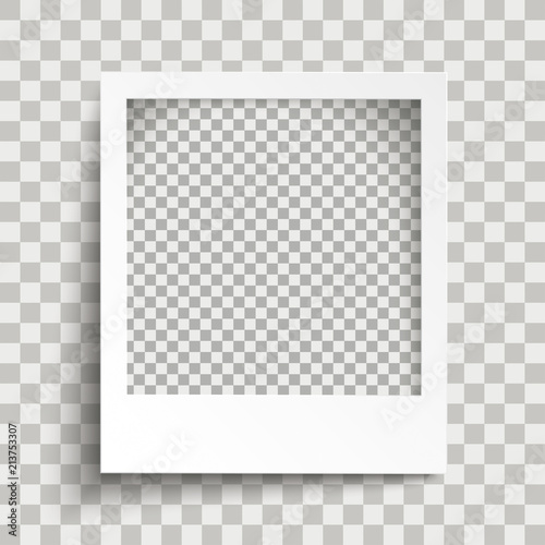 Fototapeta Sofortbild mit Schattierungen und einem transparenten Hintergrund