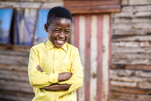 Black Boy With A Naughty Smile On His Face