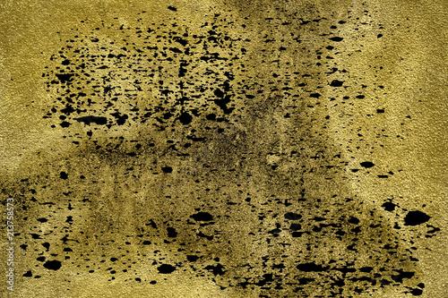 In de dag Stenen Grunge dirty Ultra yellow Concrete cement texture, stone surface, rock background