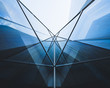 canvas print picture - Architecture detail Glass Facade Perspective Modern building Background