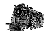 Silhouette Retro Steam Engine ...
