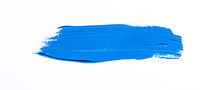 Blue Brush Stroke Isolated Ove...