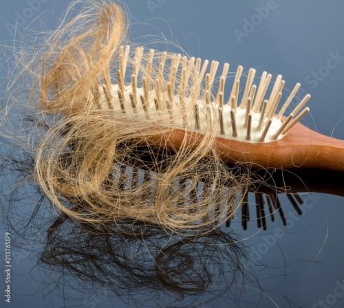 Fotografie, Obraz  Haare mit Haarbürste