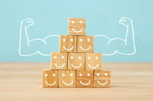 Image Of Wooden Blocks With Pe...