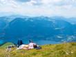 canvas print picture - Entspannung in den Bergen des Salzkammergut