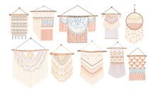 Collection Of Macrame Wall Han...