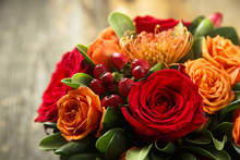 Winter Or Autumn Bouquet With ...