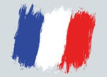 Vector Vintage France Flag.
