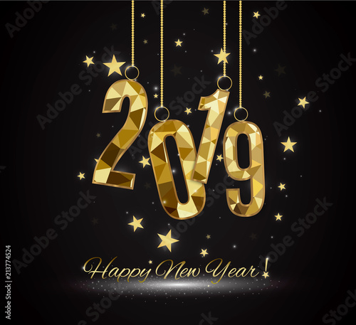 premium luxury new year background for holiday greeting card golden decoration ornament with christmas ball