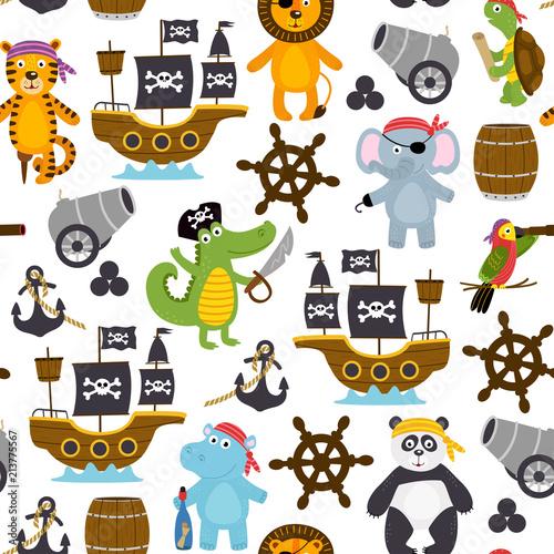 wzor-z-smieszne-piratow-zwierzat-ilustracja-wektorowa-eps