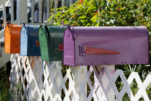 Colourful Letterboxes In The USA