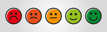 Farbige Vektor Rating Gesichter