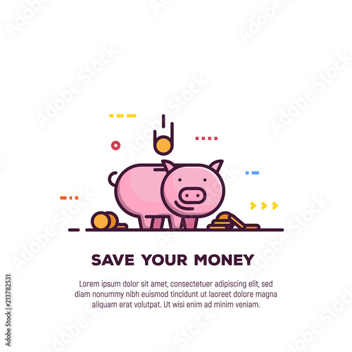 Piggy money savings line style banner. Bank and investment ... on cartoon report form, cartoon registration form, cartoon filling out a form, cartoon admission form, italian application form, germany application form, pen and paper cartoon form, sports application form, cheerleader application form, mom application form, cartoon computer form, trademark application form, christmas application form, martial arts application form, drawing application form, german application form, cartoon job application, cartoon credit application, people cartoon form,