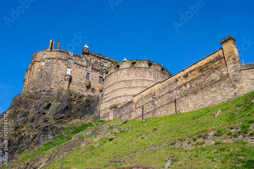 Das Schloß Von Edinburgh Schottland Kaufen Sie Dieses Foto