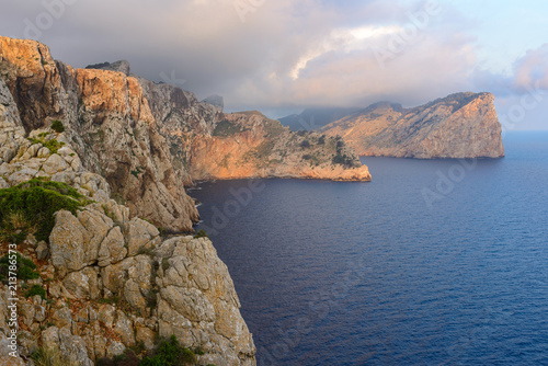 Staande foto Kust Rocky coast at Formentor cape, Majorca, Spain