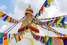 Boudhanath Stupa And Prayer Fl...