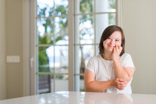 Down Syndrome Woman At Home Lo...
