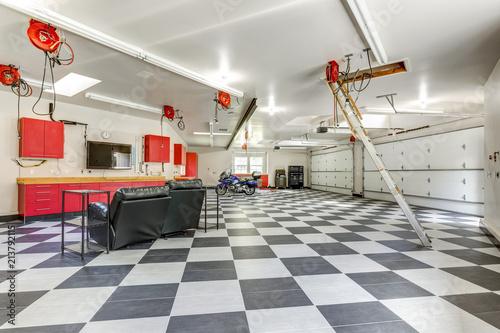 Fotografie, Obraz  Spacious modern garage interior