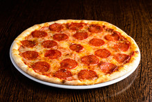 Delicious Hot Homemade Pepperoni Pizza
