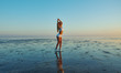 Silhouette flexible gymnastics gir