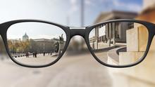 View Through Glasses Sharp Wit...