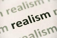 Word Realism Printed On Paper ...