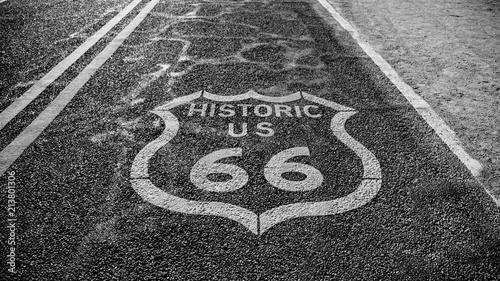 In de dag Route 66 Route 66 sign