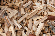 A Pile Of Punctured Firewood.