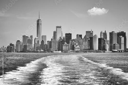 Foto op Aluminium New York City Lower Manhattan seen from Upper Bay, New York City, USA.