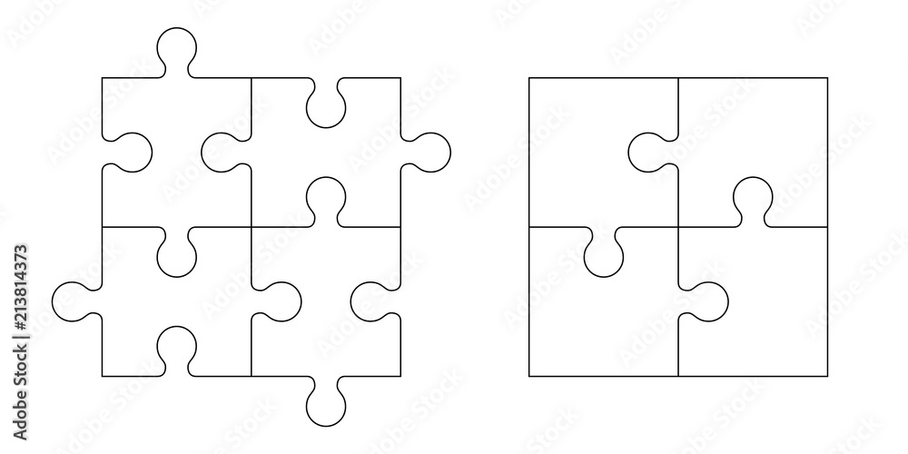 Fototapety, obrazy: Set of puzzle pieces