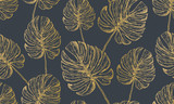 Trendy Tropical Background. Monstera Pattern Endless - 213814534