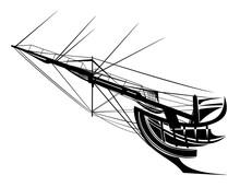 Sail Ship Bowsprit Rigging - S...