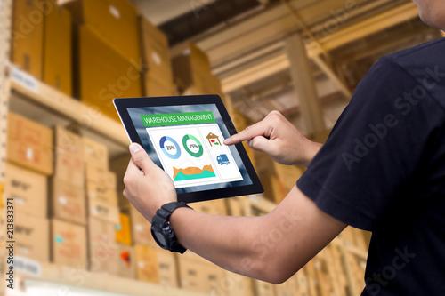 Obraz na plátně Smart industry control concept