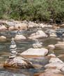 Cairns de la rivière Chéran en Bauges